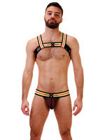 Barcode Harness Lifu - Black/Neon Yellow/Pink