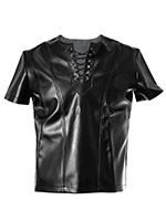 Leather Look Shirt Dark Age - Small